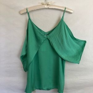NWT The Vanity room Nordstrom green camisole